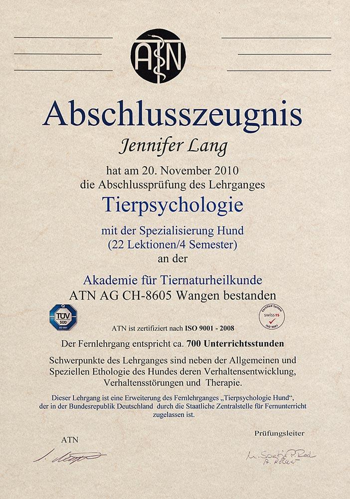 Tierpsychologie